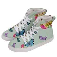 Whimsical Shabby Chic Collage Women s Hi Top Skate Sneakers by 8fugoso