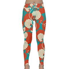 Floral Asian Vintage Pattern Classic Yoga Leggings by 8fugoso