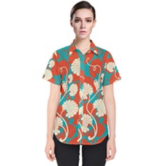 Floral Asian Vintage Pattern Women s Short Sleeve Shirt by 8fugoso