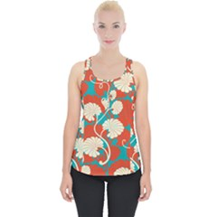 Floral Asian Vintage Pattern Piece Up Tank Top by 8fugoso