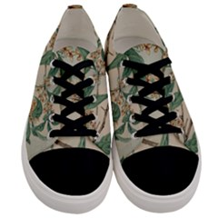 Vintage Watercolour Watercolor Men s Low Top Canvas Sneakers