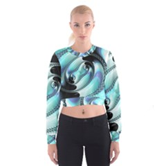 Background Pattern Jewellery Cropped Sweatshirt