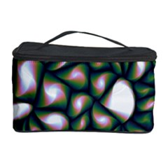 Fuzzy Abstract Art Urban Fragments Cosmetic Storage Case by Celenk