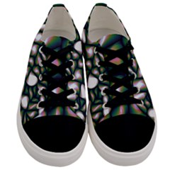 Fuzzy Abstract Art Urban Fragments Men s Low Top Canvas Sneakers