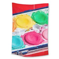 Palette Brush Paint Box Color Large Tapestry