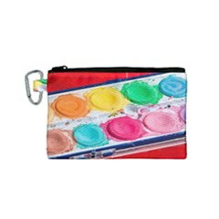 Palette Brush Paint Box Color Canvas Cosmetic Bag (small)