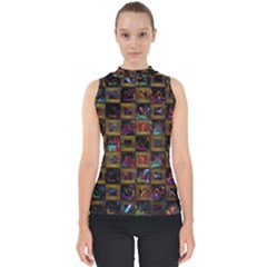 Kaleidoscope Pattern Abstract Art Shell Top