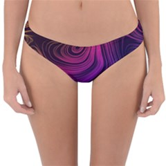 Abstract Pattern Art Wallpaper Reversible Hipster Bikini Bottoms