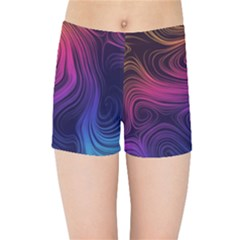 Abstract Pattern Art Wallpaper Kids Sports Shorts by Celenk