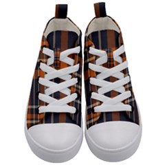 Abstract Background Pattern Textile 6 Kid s Mid Top Canvas Sneakers