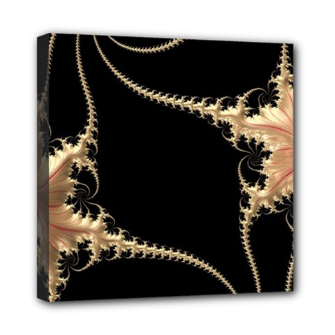 Fractal Art Design Pattern Texture Mini Canvas 8  X 8  by Celenk