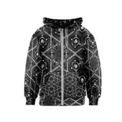 Design Art Pattern Decorative Kids  Zipper Hoodie