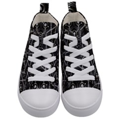 Design Art Pattern Decorative Kid s Mid-top Canvas Sneakers