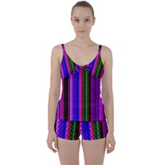 Abstract Background Pattern Textile 4 Tie Front Two Piece Tankini