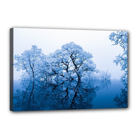 Nature Inspiration Trees Blue Canvas 18  X 12