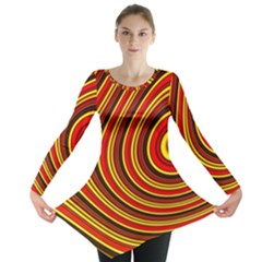 Fractal Art Mathematics Generated Long Sleeve Tunic  by Celenk