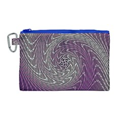 Graphic Abstract Lines Wave Art Canvas Cosmetic Bag (large) by Celenk