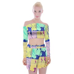 Girlfriend  respect Her   Off Shoulder Top With Mini Skirt Set