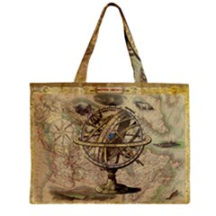 Map Compass Nautical Vintage Zipper Mini Tote Bag by Celenk
