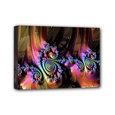 Fractal Colorful Background Mini Canvas 7  X 5  by Celenk