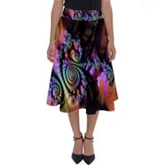 Fractal Colorful Background Perfect Length Midi Skirt