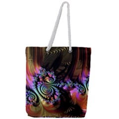 Fractal Colorful Background Full Print Rope Handle Tote (large)