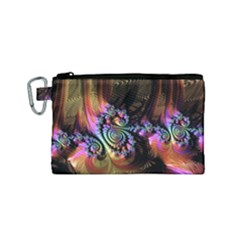 Fractal Colorful Background Canvas Cosmetic Bag (small) by Celenk