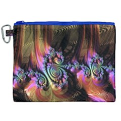 Fractal Colorful Background Canvas Cosmetic Bag (xxl) by Celenk