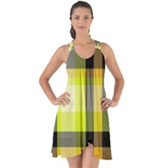 Tartan Abstract Background Pattern Textile 5 Show Some Back Chiffon Dress