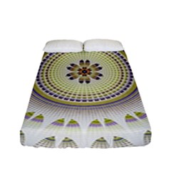 Mandala Fractal Decorative Fitted Sheet (full/ Double Size) by Celenk