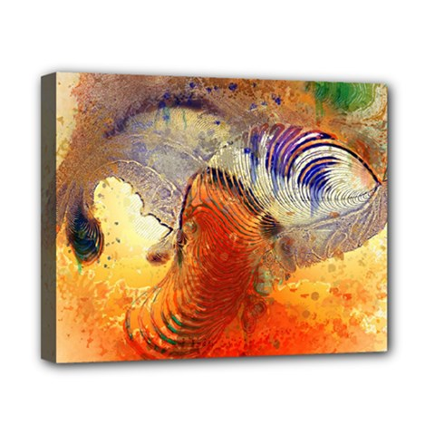 Dirty Dirt Image Spiral Wave Canvas 10  X 8
