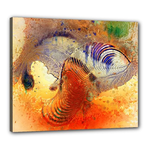 Dirty Dirt Image Spiral Wave Canvas 24  X 20  by Celenk