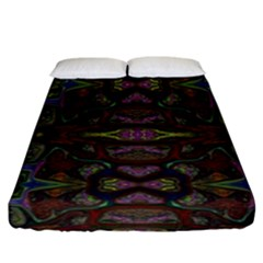 Pattern Abstract Art Decoration Fitted Sheet (california King Size)