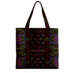 Pattern Abstract Art Decoration Zipper Grocery Tote Bag by Celenk