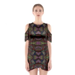 Pattern Abstract Art Decoration Shoulder Cutout One Piece