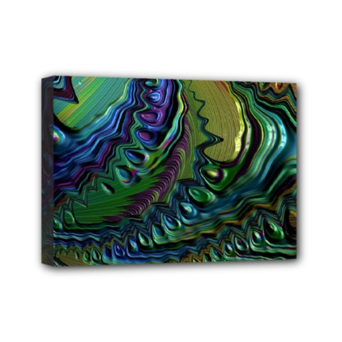Fractal Art Background Image Mini Canvas 7  X 5  by Celenk