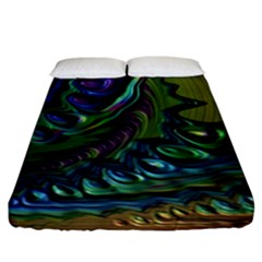 Fractal Art Background Image Fitted Sheet (king Size)
