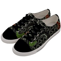 Batik Traditional Heritage Indonesia Men s Low Top Canvas Sneakers by Celenk