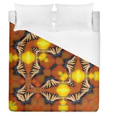 Dancing Butterfly Kaleidoscope Duvet Cover (queen Size) by Celenk
