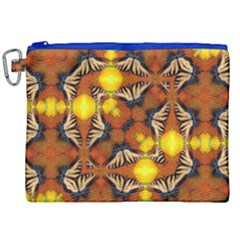 Dancing Butterfly Kaleidoscope Canvas Cosmetic Bag (xxl) by Celenk