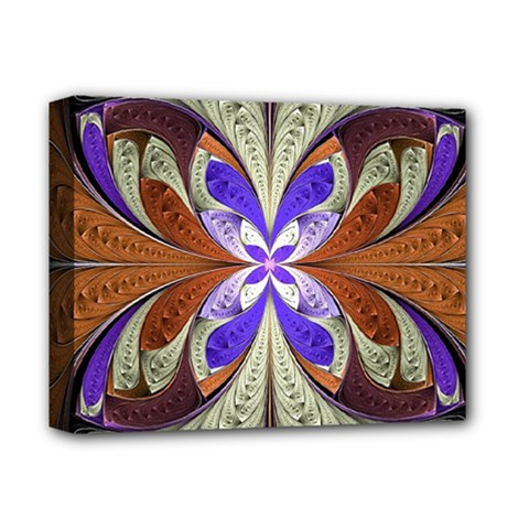 Fractal Splits Silver Gold Deluxe Canvas 14  X 11  by Celenk