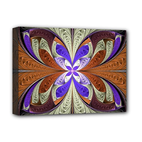 Fractal Splits Silver Gold Deluxe Canvas 16  X 12   by Celenk