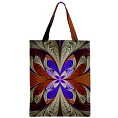 Fractal Splits Silver Gold Classic Tote Bag by Celenk