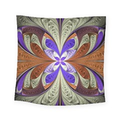 Fractal Splits Silver Gold Square Tapestry (small) by Celenk