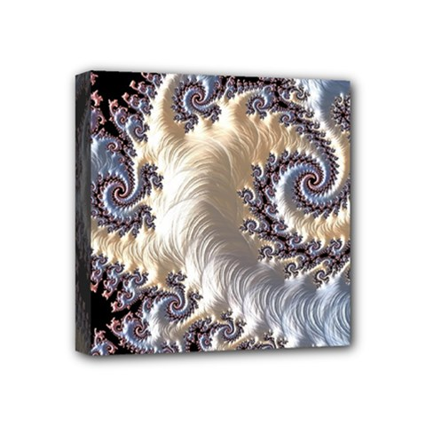 Fractal Art Design Fantasy 3d Mini Canvas 4  X 4  by Celenk
