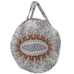 Fractal Fantasy Design Imagination Giant Round Zipper Tote