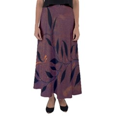 Texture Pattern Background Flared Maxi Skirt