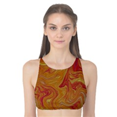 Texture Pattern Abstract Art Tank Bikini Top