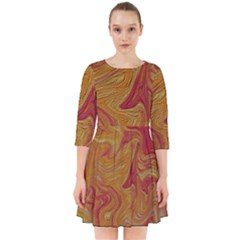 Texture Pattern Abstract Art Smock Dress by Celenk
