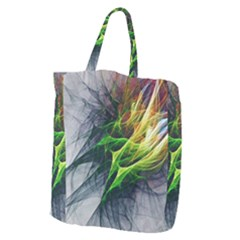 Fractal Art Paint Pattern Texture Giant Grocery Zipper Tote